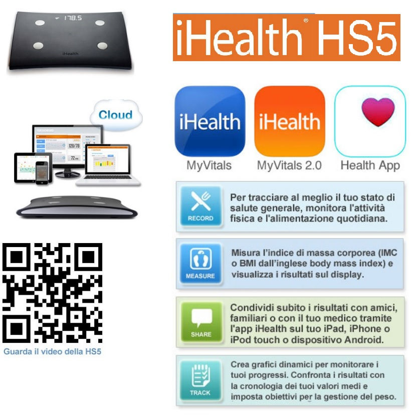 Bilancia wireless iHealth 2 HS5
