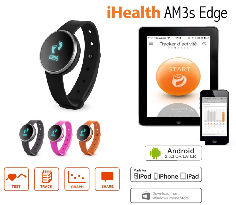 Tracker wireless iHealth Edge