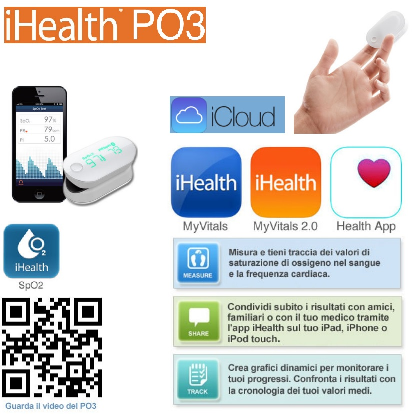 iHealth® PO3 – Pulsossimetro wireless