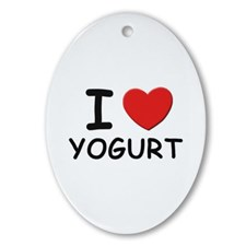 i_love_yogurt_oval_ornament